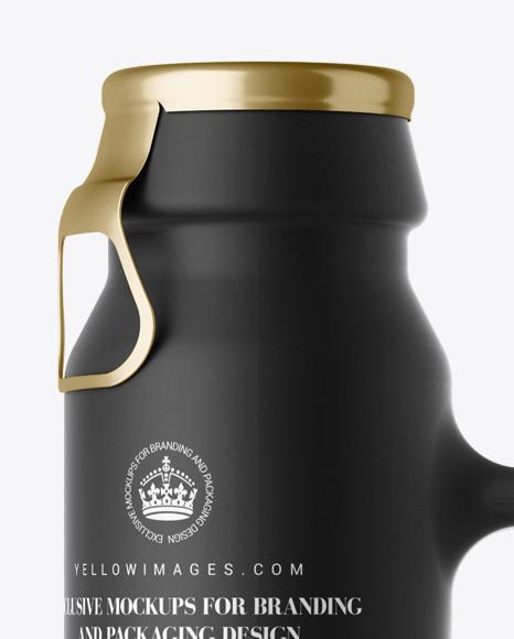 Download Black Matte Beer Bottle Mockup Front View In Bottle Mockups On Yellow Images Object Mockups Yellowimages Mockups