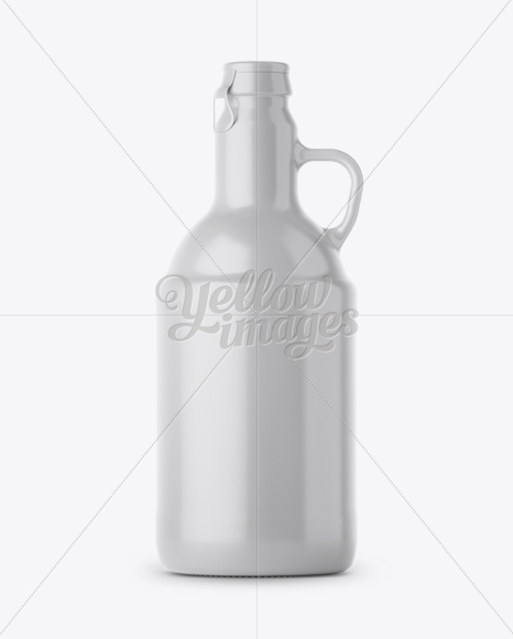 Download Clear Glass Beer Bottle W Handle Mockup In Bottle Mockups On Yellow Images Object Mockups Yellowimages Mockups