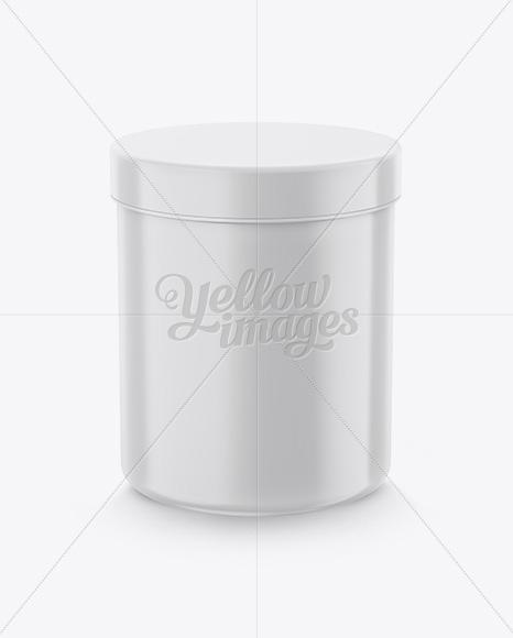 Download Cylindrical Plastic Jar Mockup High Angle Shot In Jar Mockups On Yellow Images Object Mockups PSD Mockup Templates