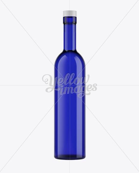 Download Blue Glass Liquor Bottle Mockup In Bottle Mockups On Yellow Images Object Mockups PSD Mockup Templates