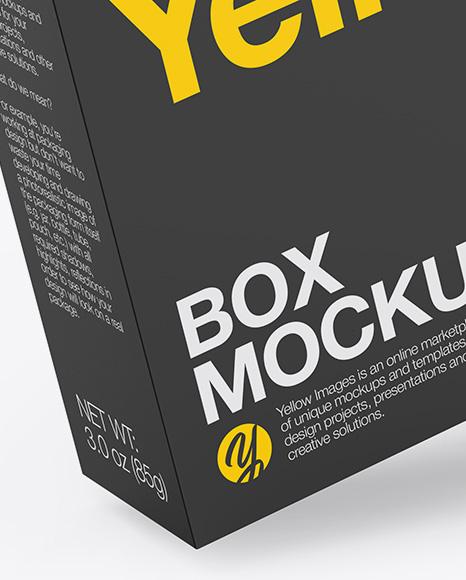 Glossy Paper Box with Hang Tab Mockup