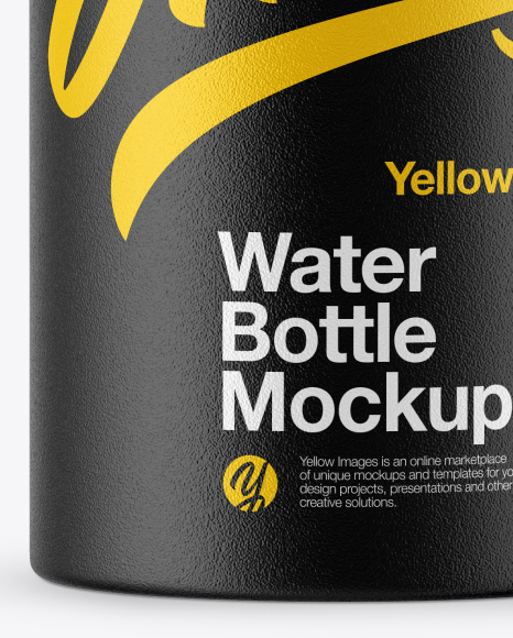 Textured Wide-Mouth Water Bottle Mockup