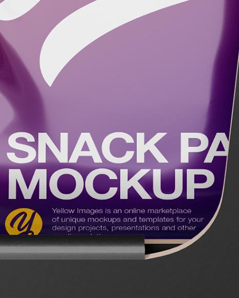 Box w/ 15 Snack Packs Mockup