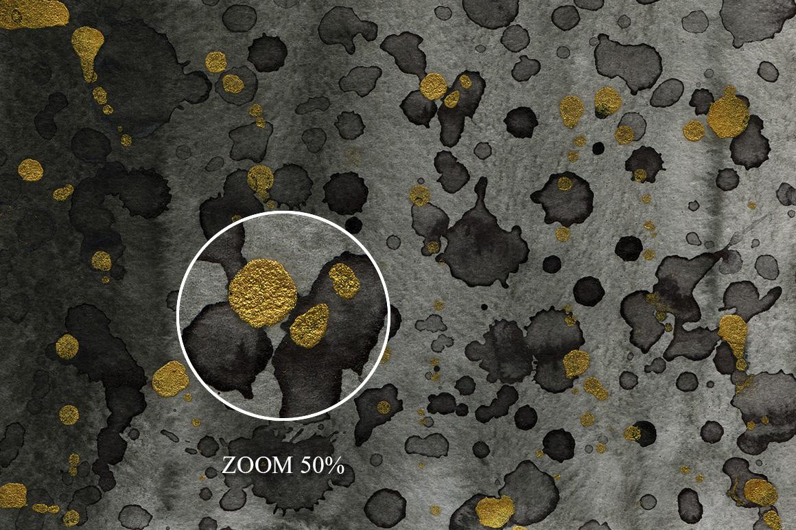 100 Luxury Black&Gold Ink Textures