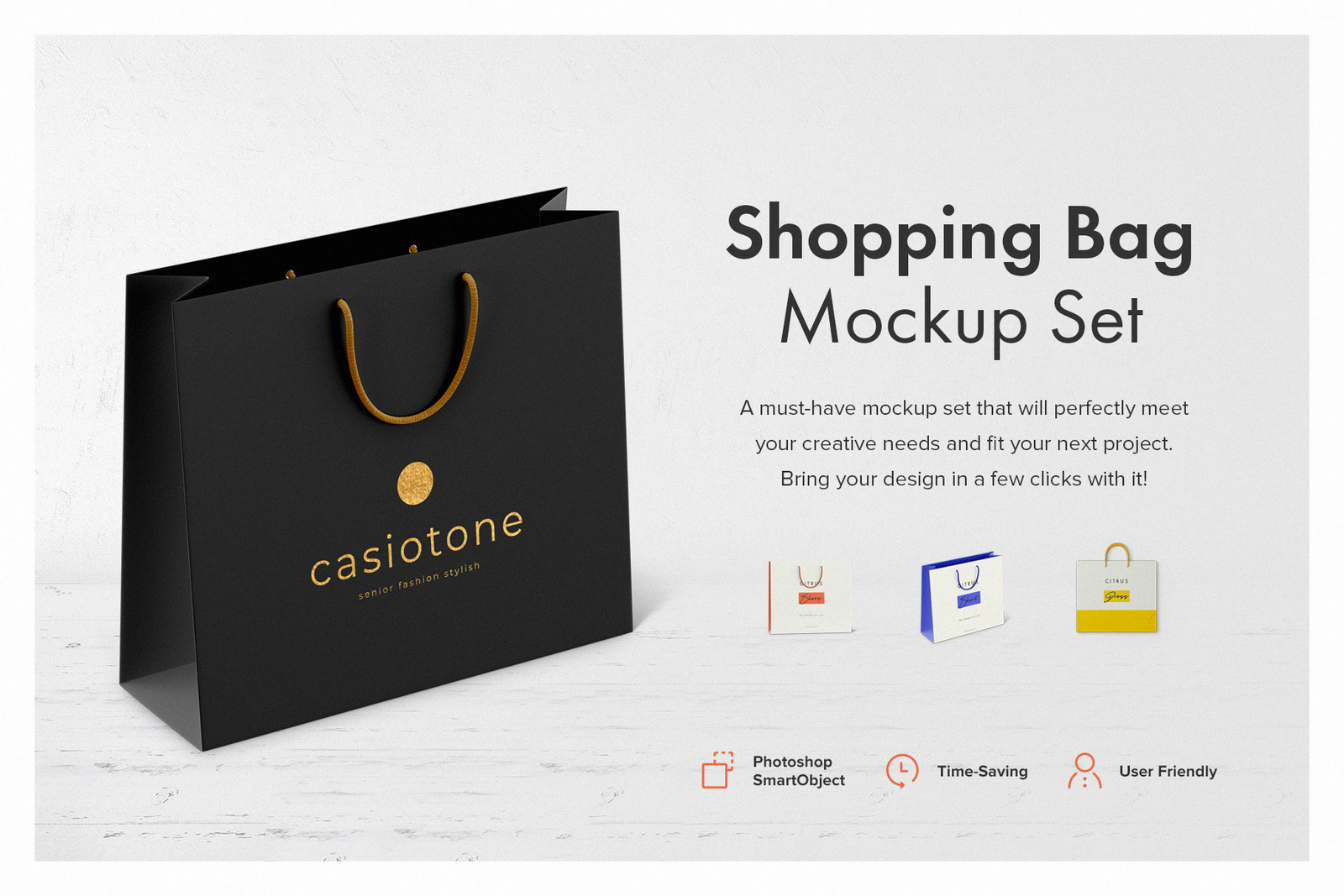 Shopping Bag Mockup Set In Packaging Mockups On Yellow Images