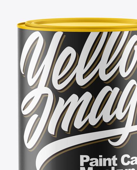 Matte Paint Cans Mockup