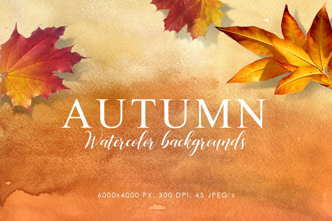 Autumn Watercolor Backgrounds