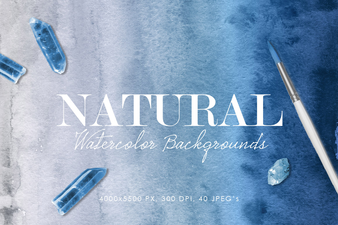 Natural Watercolor Ombre Backgrounds