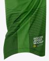 Men's Soccer V-Neck Jersey Mockup - Side View