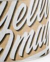 Metallic Paint Can w/ Kraft Label Mockup