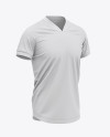 Men's V-Neck Soccer Jersey Mockup - Front Half-Side View - Football Jersey Soccer T-shirt