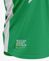 Men's Soccer V-Neck Jersey Mockup - Front Half-Side View