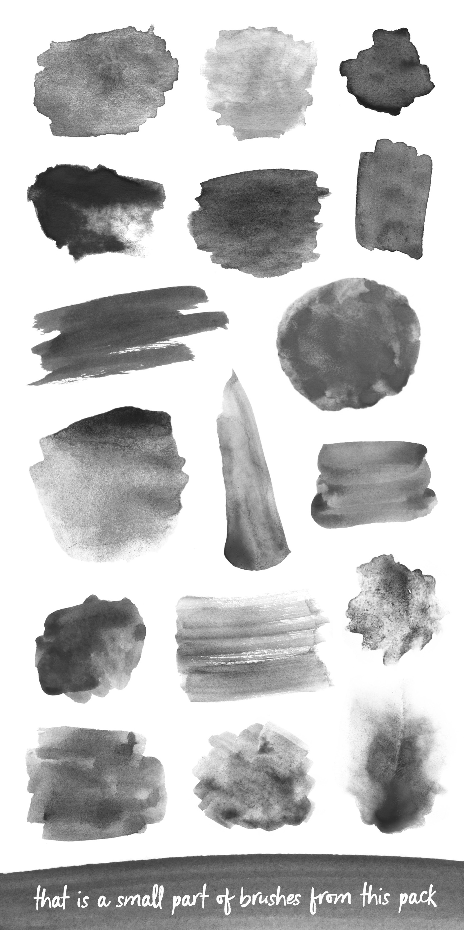 170 Watercolor Brushes Pack for Photoshop