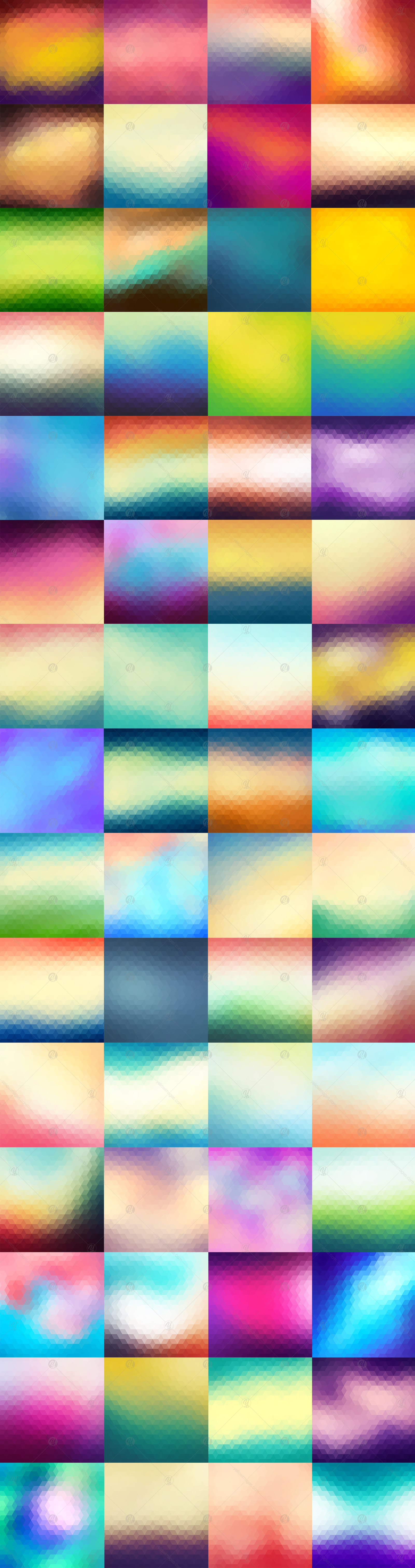 60 Colorful Geometric Backgrounds