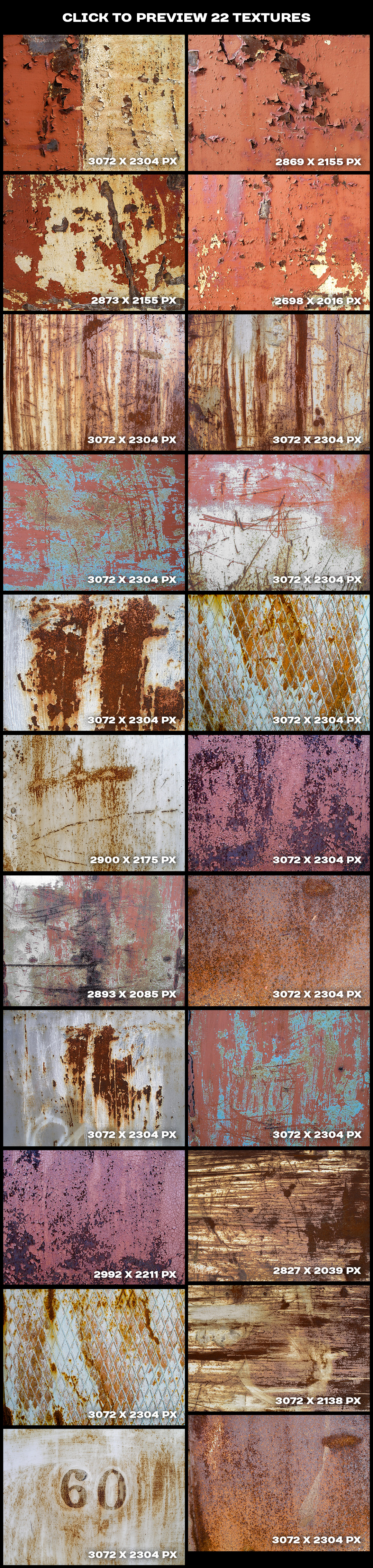 Cracked paint and concrete wall textures