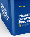 Glossy Plastic Container Mockup