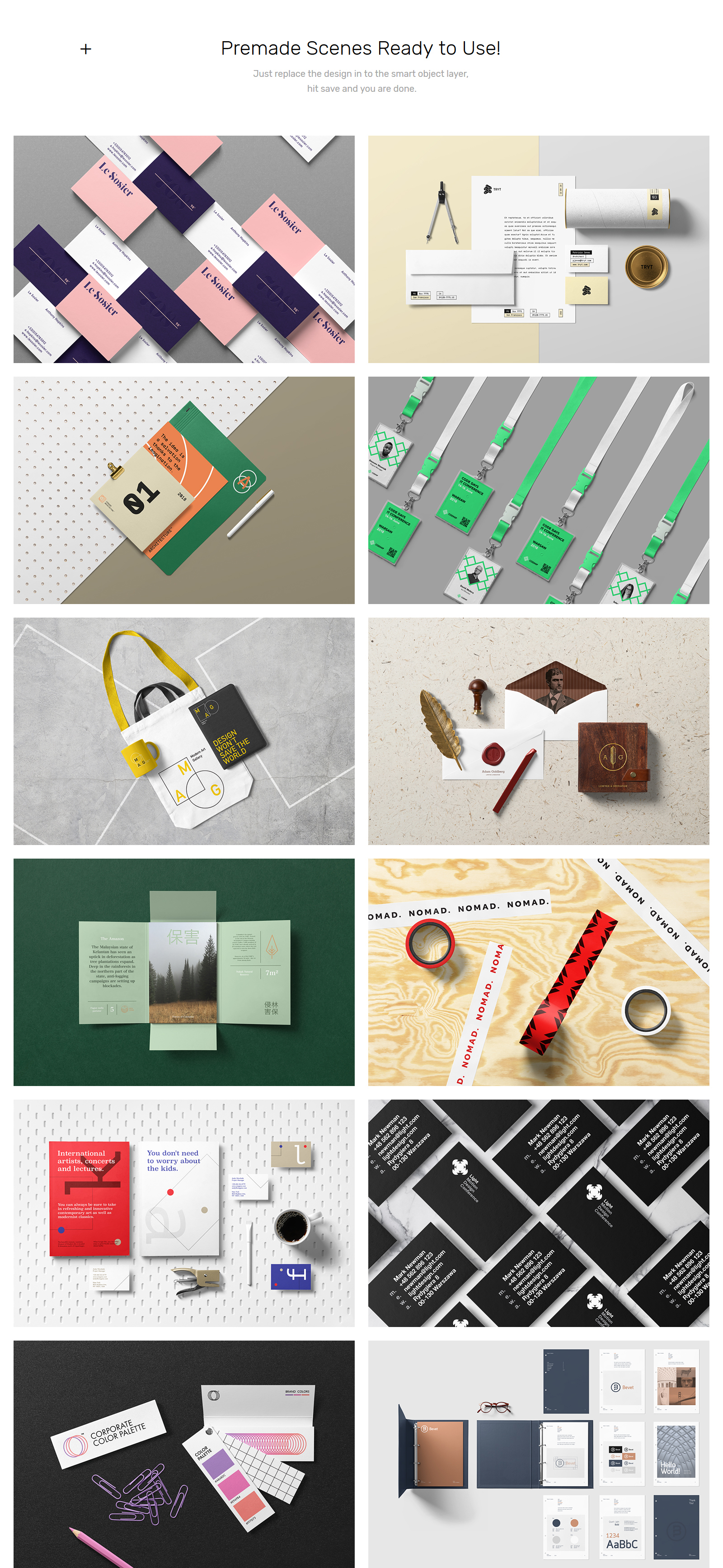 Stationery PSD Mockups - Corporate Pack