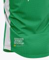 Men's Soccer V-Neck Jersey Mockup – Back Half-Side View