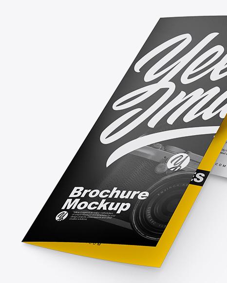 Two Matte Brochures Mockup