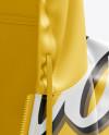 Short Sleeve Zip Hoodie Mockup - Front View