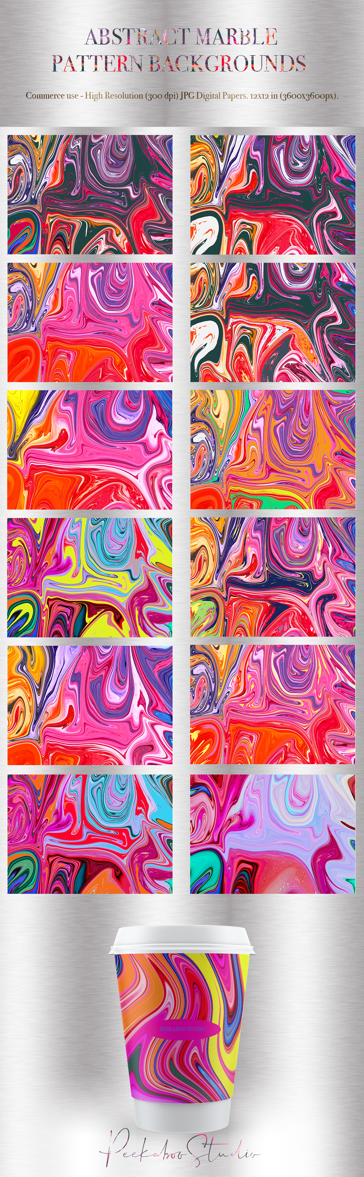 Abstract Marble Pattern Backgrounds P.2
