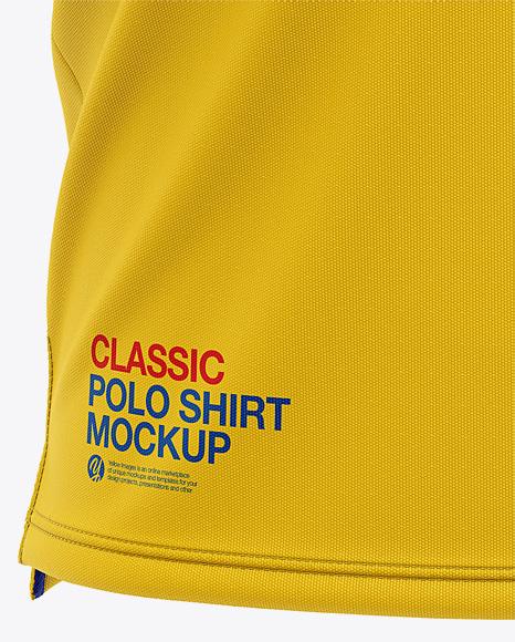 Short Sleeve Polo Mockup