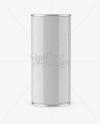 1L Glossy Aluminium Can Mockup