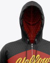 Men's Full-Zip Hoodie Mockup - Front View