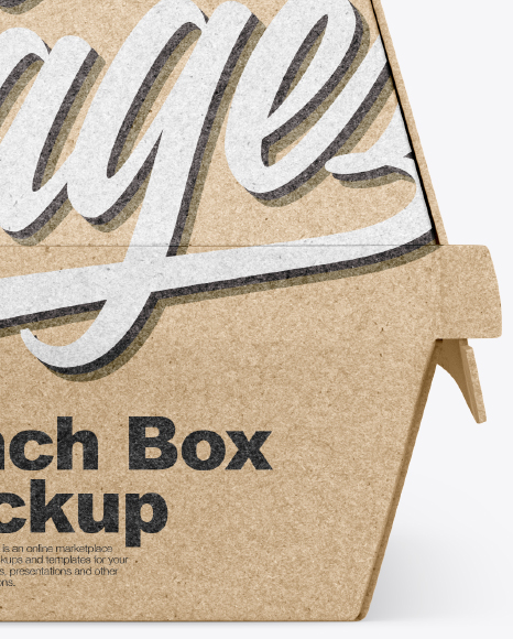 Free Download Kraft Lunch Box Paper Sleeve Mockup PSD - Free PSD Mockup Templates