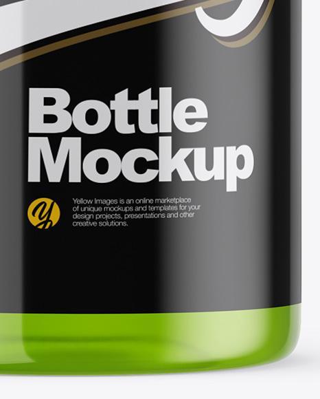 Plastic Energy Drink Bottle Mockup