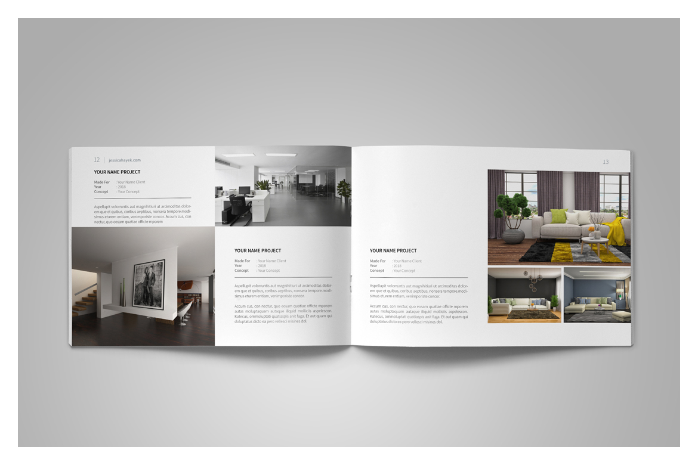 graphic design portfolio template in brochure templates on