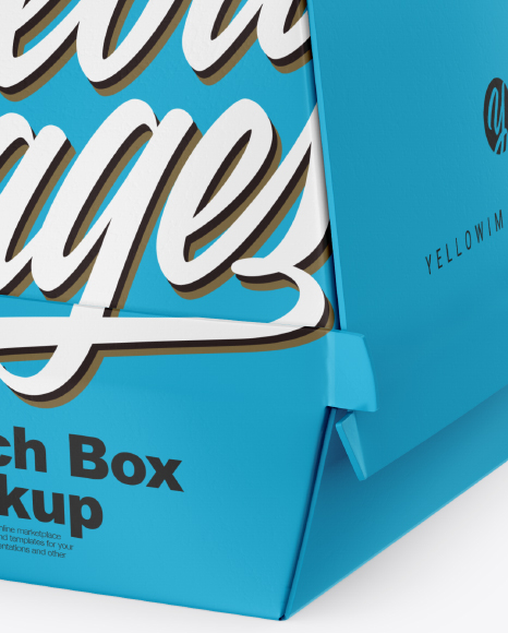Paper Lunch Box Mockup Free