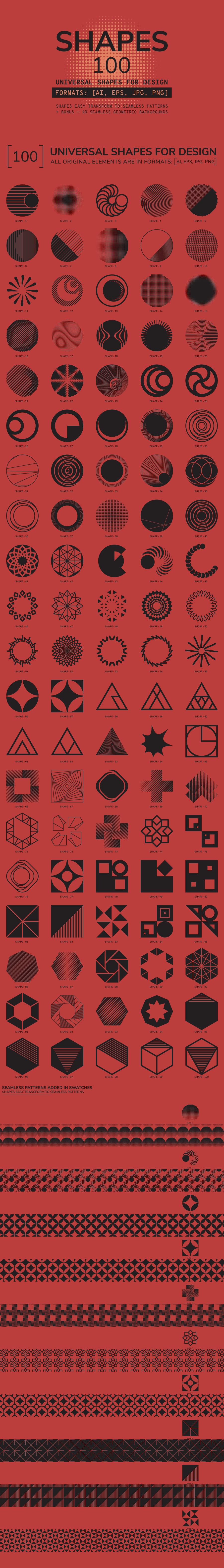 100 Geometric Shapes. Part 3