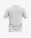 Men's Soccer Henley Collar Jersey Mockup - Back View