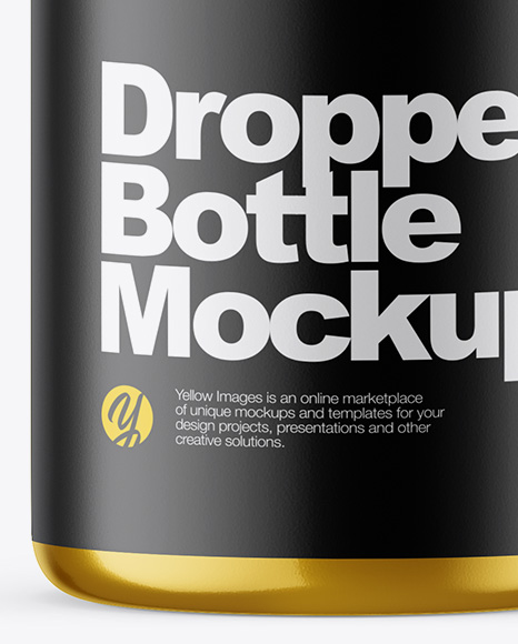 10ml Metallic Dropper Bottle Mockup
