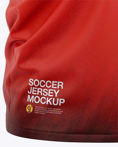 Men's Soccer Henley Collar Jersey Mockup - Front Half-Side View - Football Jersey Soccer T-shirt