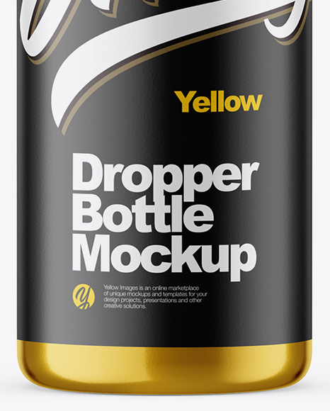 15ml Metallic Dropper Bottle Mockup