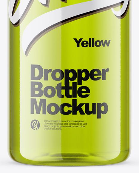 Download 10ml Glossy Dropper Bottle Mockup PSD - Free PSD Mockup Templates