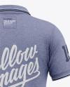 Men's Heather Short Sleeve Polo Shirt - Back View