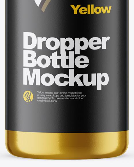 30ml Metallic Dropper Bottle Mockup