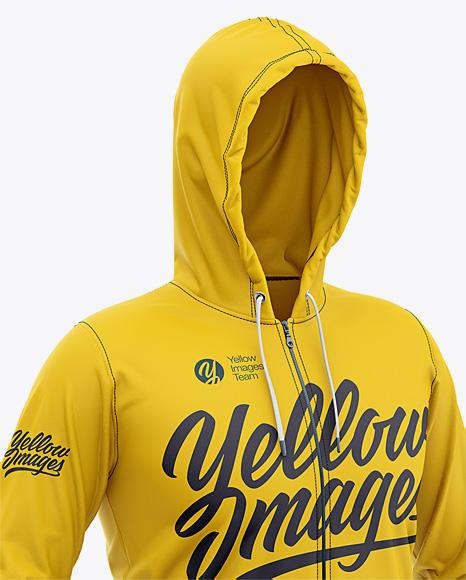 Download Full Zip Hoodie Mockup Yellowimages