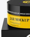 Glossy Jar w/ Paper Box Mockup