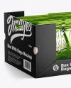Box w/ 6 Metallic Bags Mockup