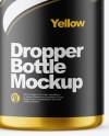 50ml Metallic Dropper Bottle Mockup