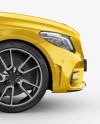 Compact Executive Sedan Mockup - Side View