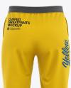 Women's Cuffed Sweatpants Mockup - Back View