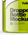 100ml Clear Glass Dropper Bottle Mockup