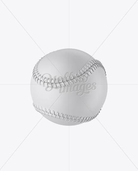 Baseball Ball Mockup - Halfside View