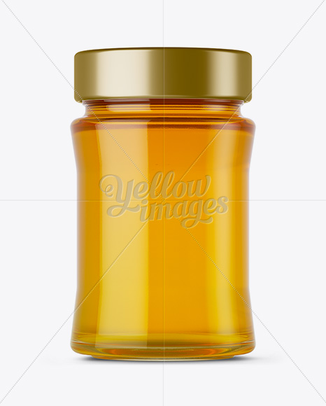 Glass Jar w/ Pure Honey Mockup