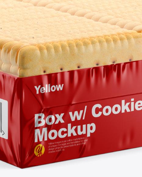 Download Box Cookies Mockup PSD - Free PSD Mockup Templates